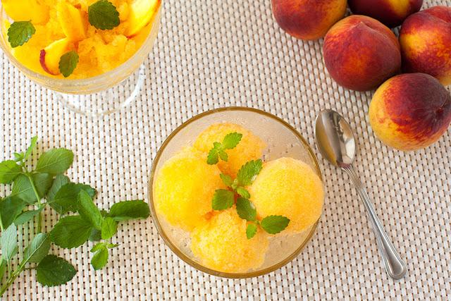 Персиковый холодный десерт