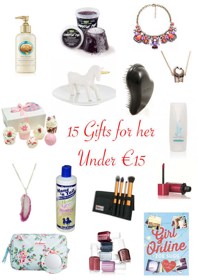 15 Christmas Gift Ideas for her under €15