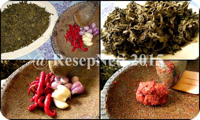 resep tumis daun singkong di dapur kusNeti 2015