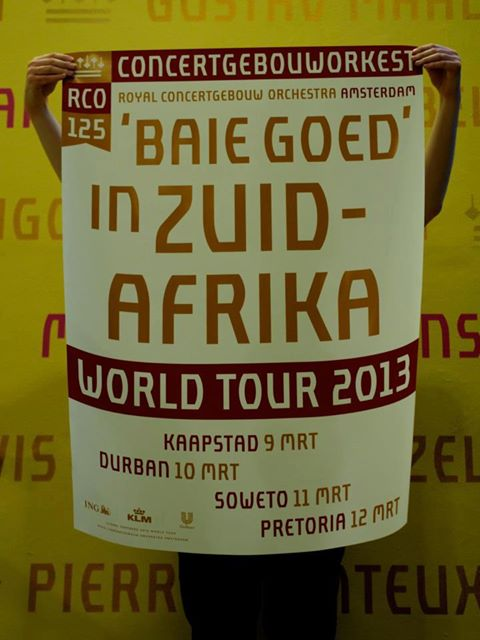 Royal Concertgebouw Orchestra world tour 2013 South Africa