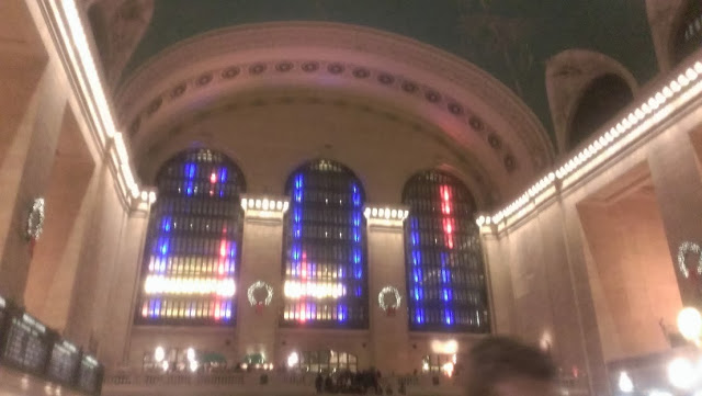 Lasar Light show at Grand Central Station