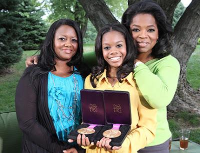 Oprah, Gabby Douglas, and her mom Natalie Hawkins