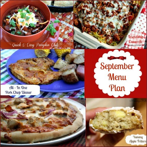 september menu - menu plan monthly