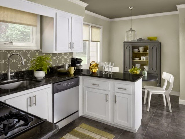 wall paint colors for white kitchen cabinets