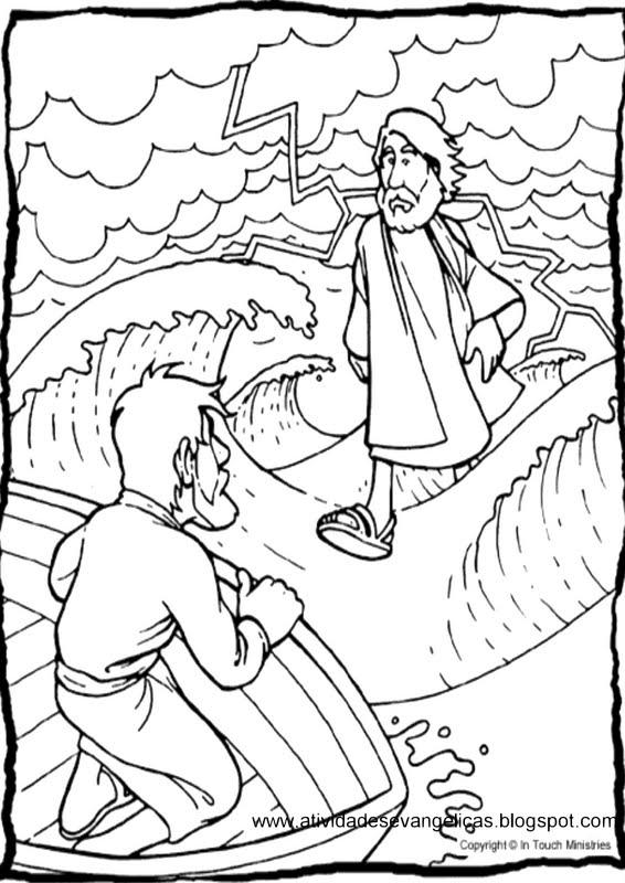 Atividades Jesus Anda Sobre As   Guas