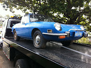 1971 fiat 850 spyder. Well here we have a cute little car towed out of a .