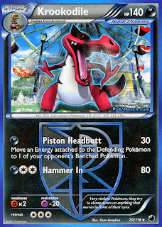 Krookodile Plasma Freeze Pokemon Card