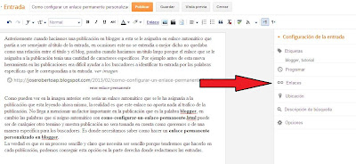 configurar enlaces permanentes en blogger