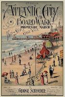 """vintage print"" ""Atlantic City Boardwalk"" ""Summer"""