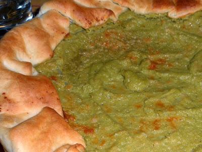 Torta salata con crema di broccoli
