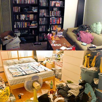 ruangan berantakan karena malas