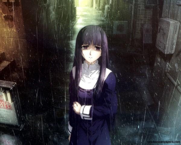 Anime sad rain