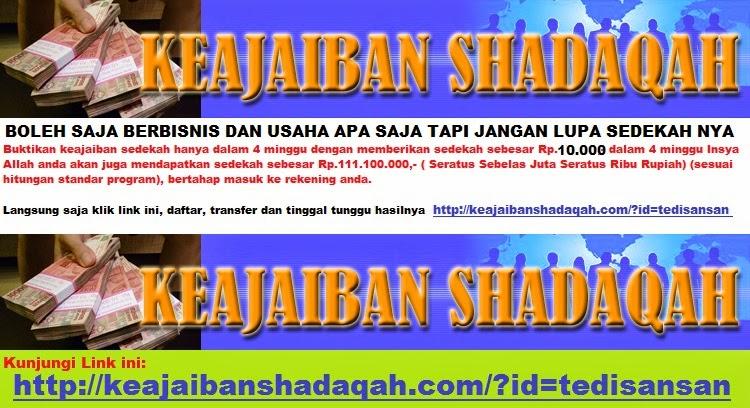 http://keajaibanshadaqah.com/?id=tedisansan