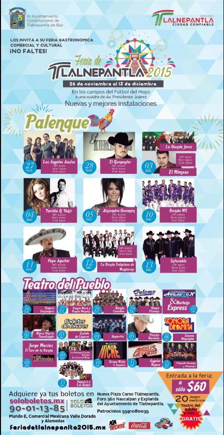 palenque y teatro del pueblo feria tlalnepantla 2015
