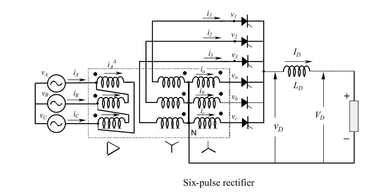 Flamingidea Controlled Rectifier Types And Description Halfwave Topology The Circuit Is A Smoothing Reactor L D Also Considerably Smaller Than One Needed For Three Pulse Half Wave