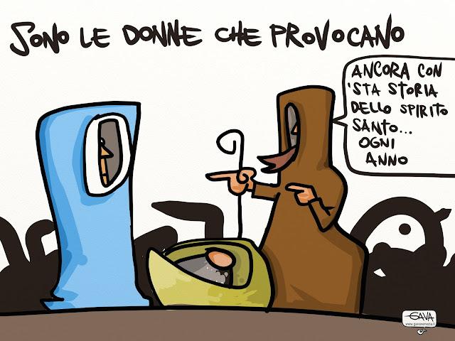 gava satira vignette 'Femminicidio  Le donne provocano', polemica sul parroco  San Terenzo Spezia monsignor Ernesto Palletti
