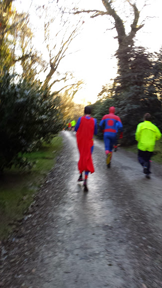 Spider man at Park Run