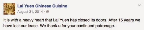 Lai Yuen Managment Facebook Message