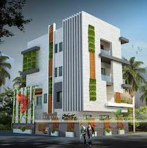 3D Modern House Exterior Design