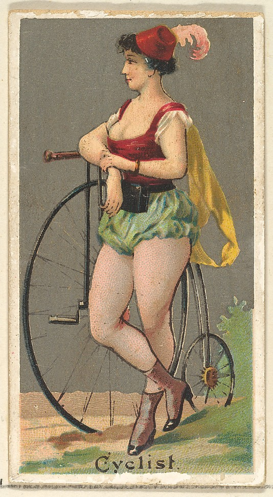 "Cyclist. Vintage tobacco card ""Occupations For Women"", via ellomennopee"