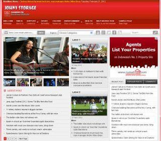 Johny Storage Red Free Blogger Template