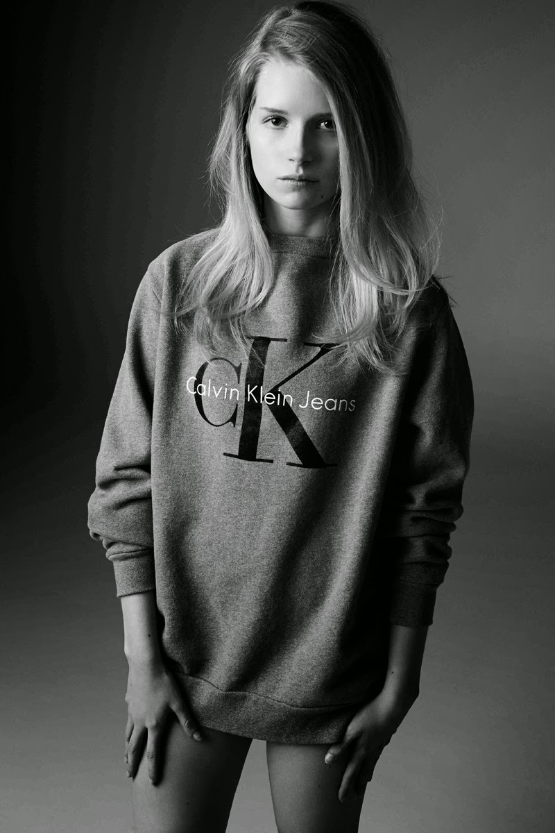 Lottie Moss stars for the Calvin Klein x MyTheresa 'The Re-Issue Project' Collection Campaign