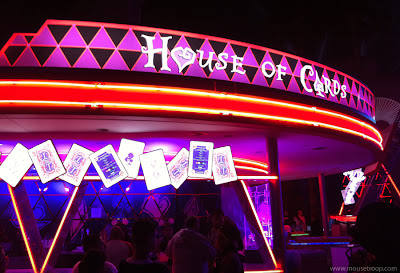 Mad T Party House Cards Bar Disney California Adventure DCA