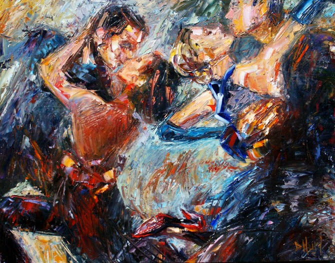 Daily Painters Abstract Gallery: Abstract Tango Dancer Art ...