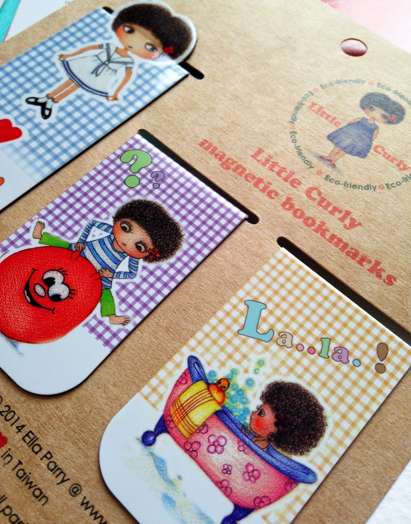 Little Curly magnetic bookmarks Set B