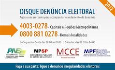 Disque Denúncia Eleitoral    -  4003-0278