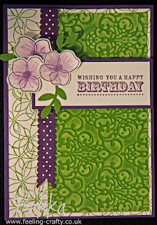 Beautiful Growing Green Card featuring the New Stampin' Up! Core'dintes Card by Bekka www.feeling-crafty.co.uk