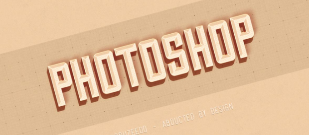 A Style Text Effect in Photoshop