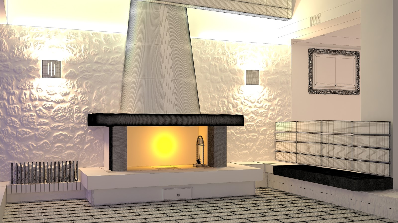 CG4ArchViz: Making of Fireplace