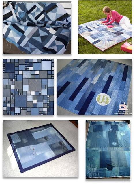 Denim Quilt Patterns Free : Quilt Inspiration: Free pattern day ! Denim quilts