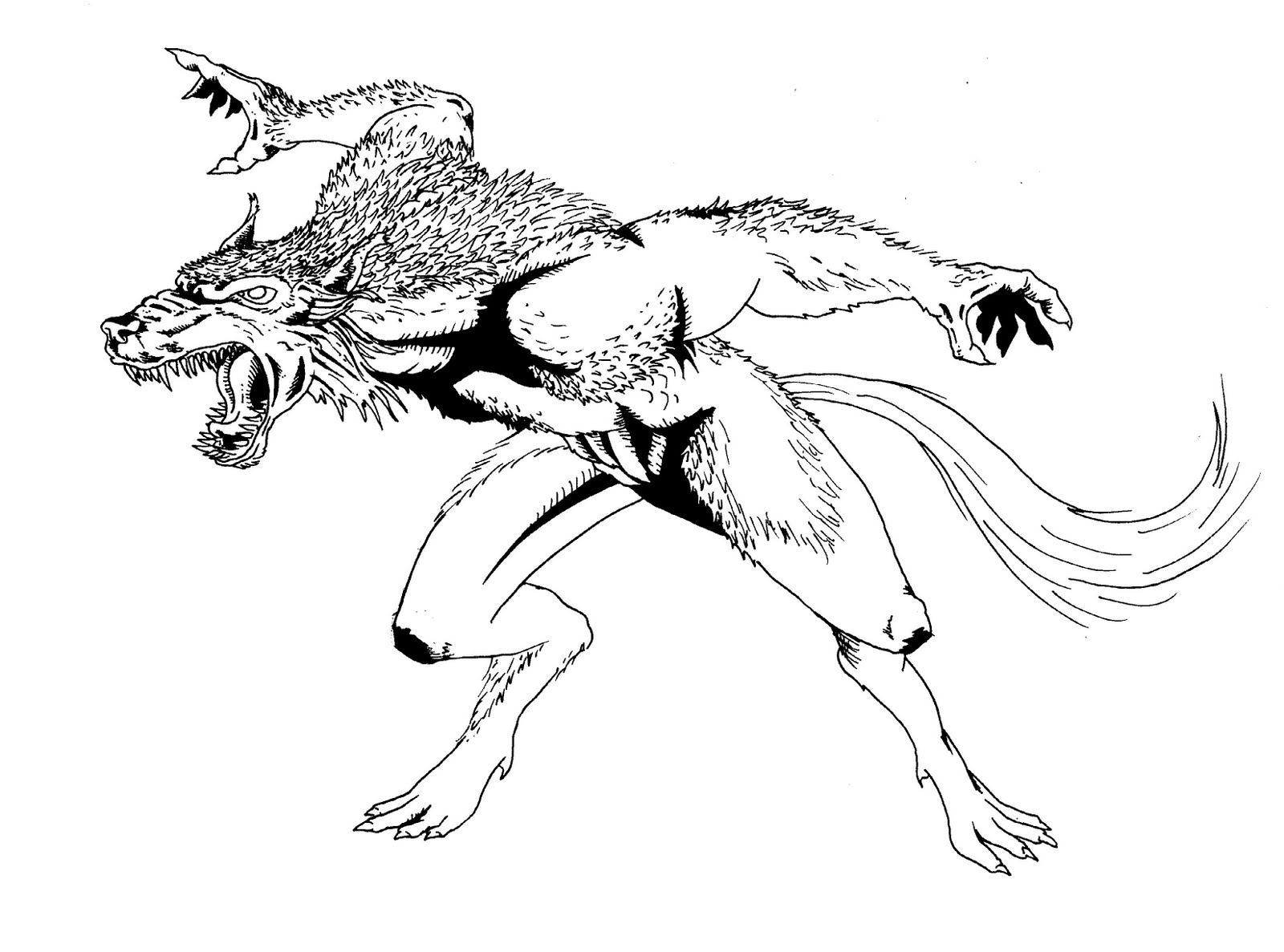 werewolf coloring pages - photo#27