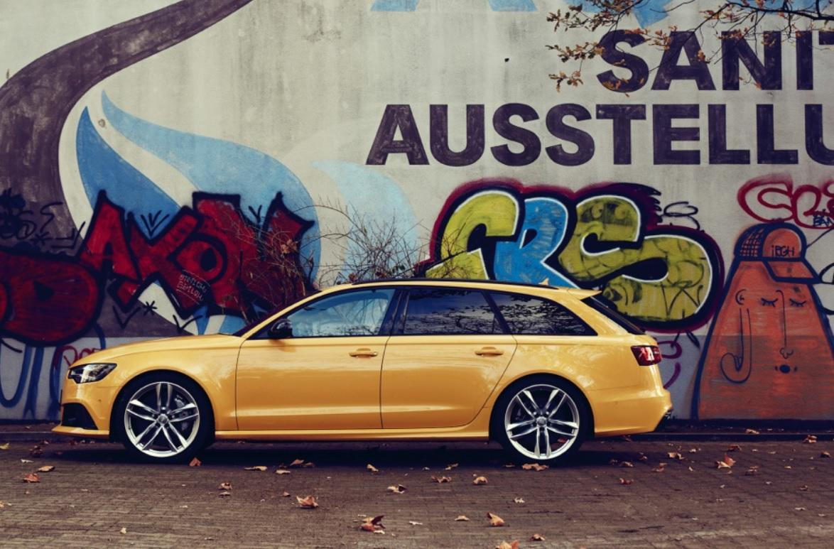 Audi RS6 in Speedy Yellow
