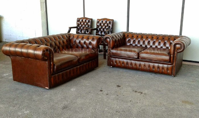 Divani poltrone chesterfield vintage originali