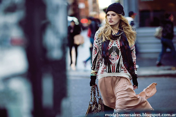 Sweater tejidos India Style moda otoño invierno 2014.