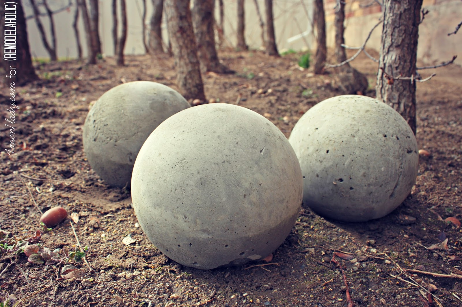 DIY Cement Planters and Garden Globes