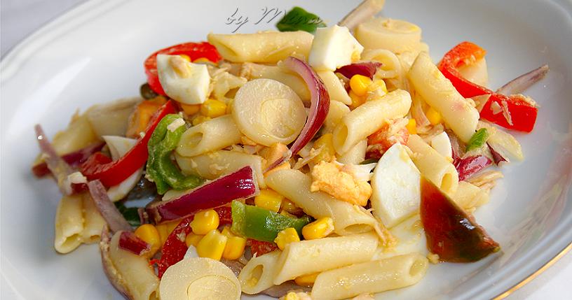 Cuina amb la mestressa ensalada fresca con macarrones - Ensalada fresca de pasta ...