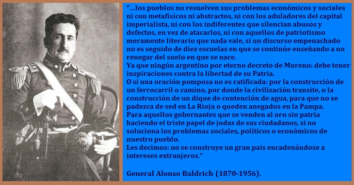 EL PENSAMIENTO DEL GRAL. ALONSO BALDRICH.