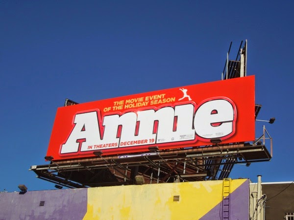 Annie movie remake billboard