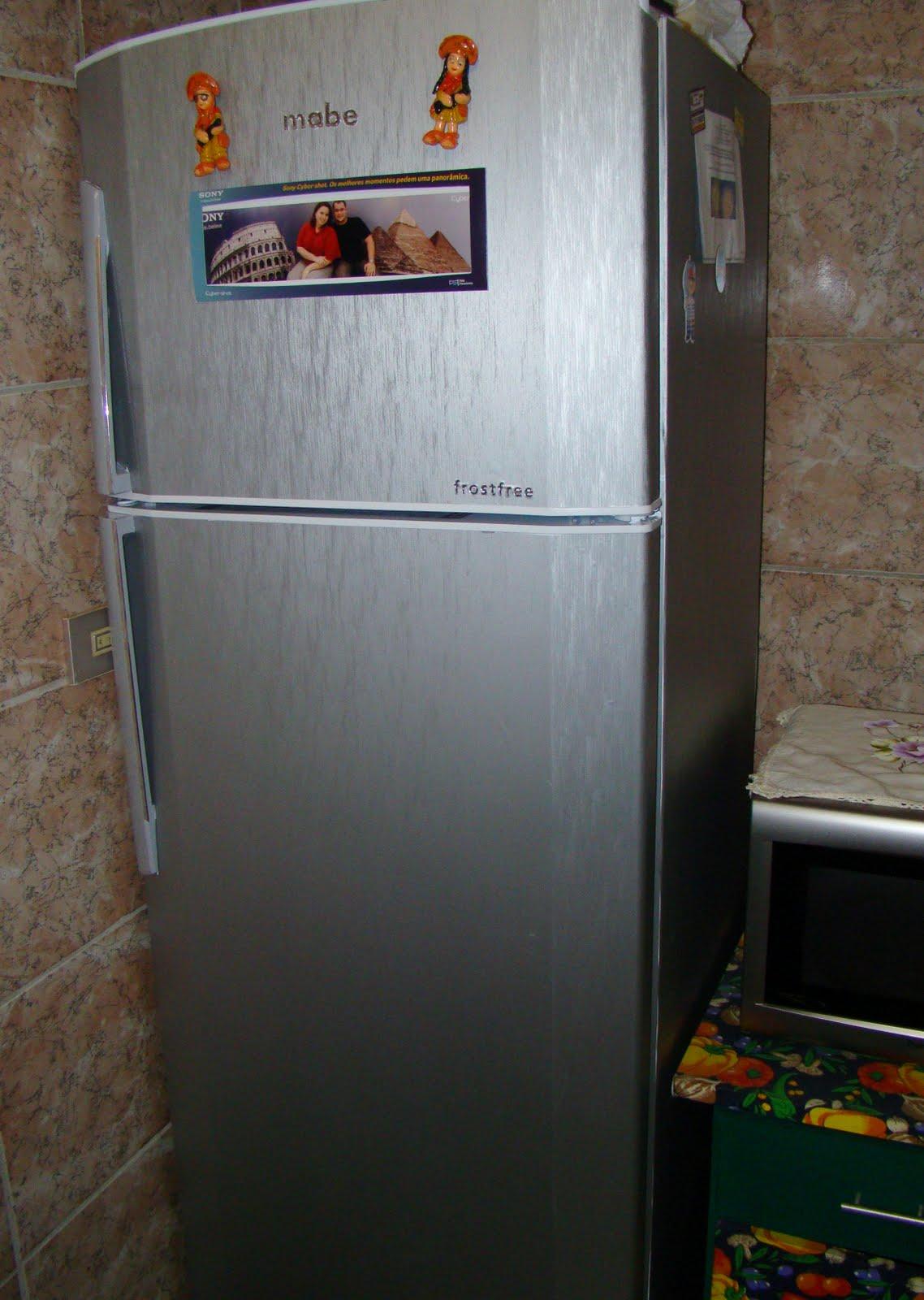 Aparador Sala De Jantar ~ Blog da Myla Como transformar sua geladeira branca em inox