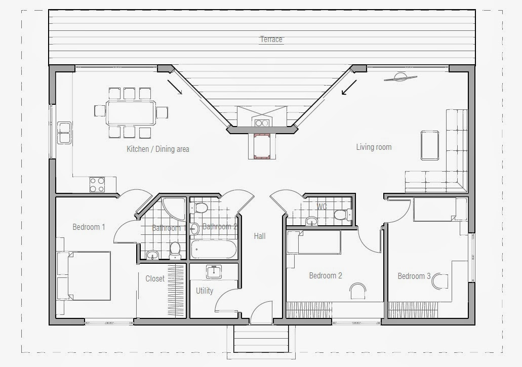 Australian House Plans Small Australian House Plan Ch61