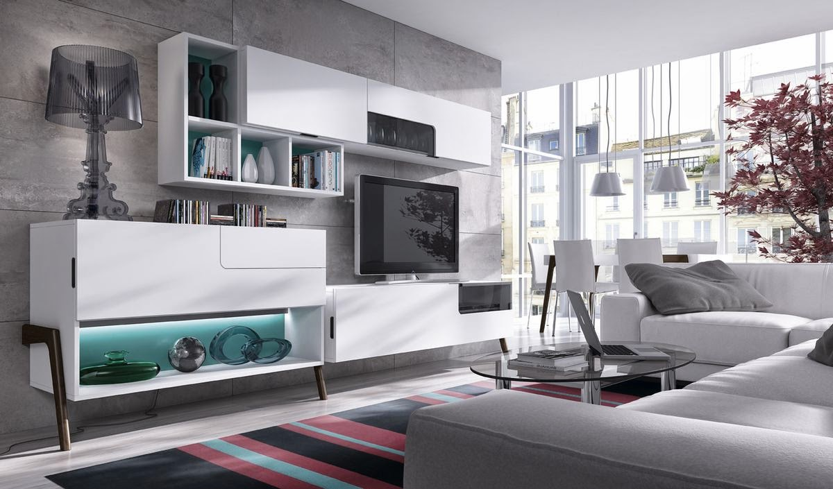 Muebles modernos de sal n for Muebles de salon madrid