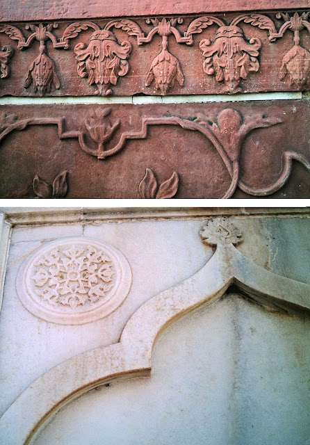 close-ups of taj art
