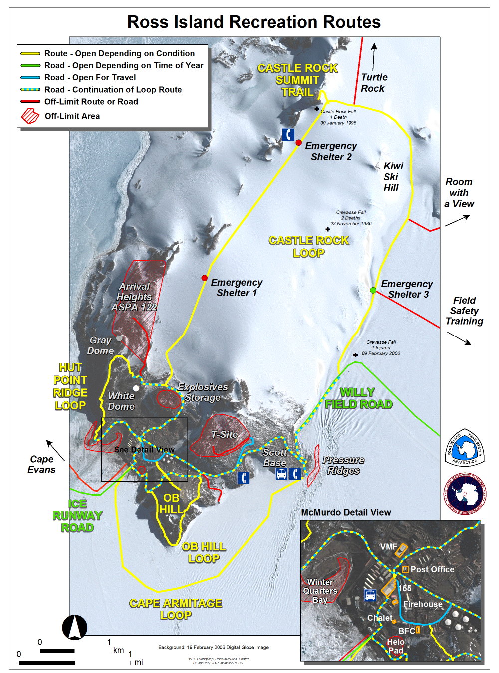 recreation map for mcmurdo station