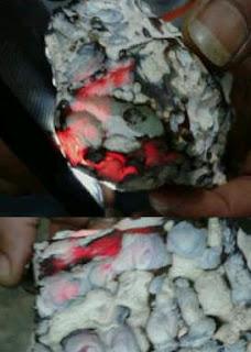 perawatan bahan batu merah rose