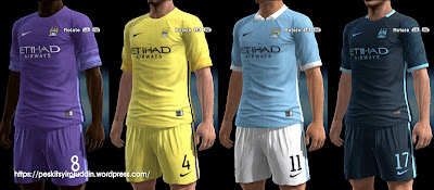PES 2013 Manchester City kits 2015-2016 by Syirojuddin