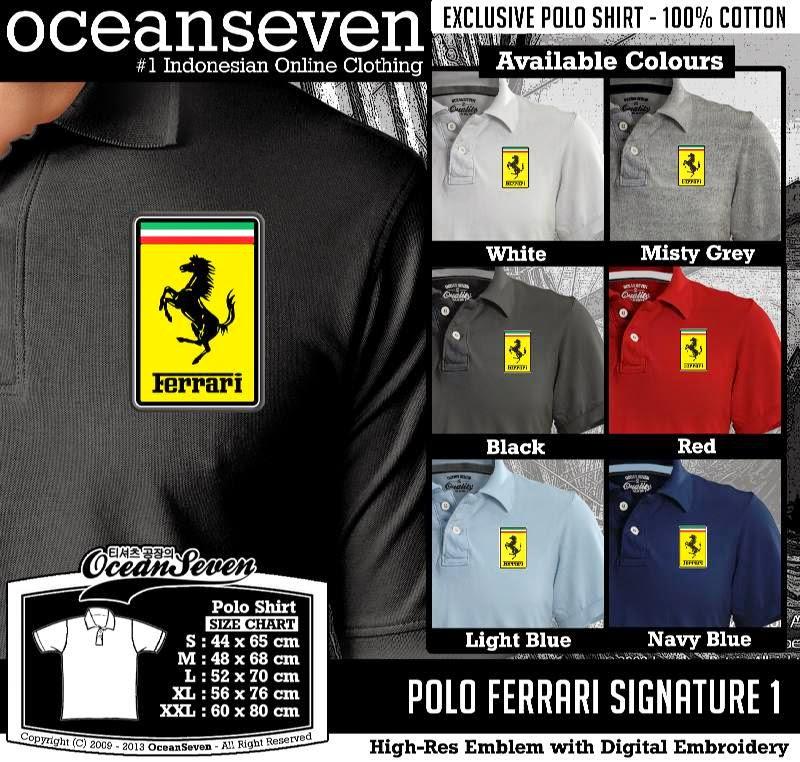 Kaos Polo Ferrari Signature 1